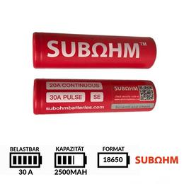 Subohm SE Batteries 18650 - 2500 mAh 30A