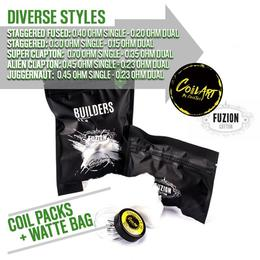 Builders Finest Coil Pack | Coil Art Wire + Fuzion Cotton