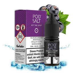 Pod Salt Nikotinsalz - Blackcurrant Menthol 20mg/ml 10ml