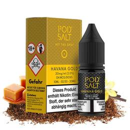 Pod Salt Nikotinsalz - Havanna Gold 10ML 20MG