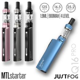 JustFog Q16 Pro Kit - 1,9ml 900mAh MTL Set