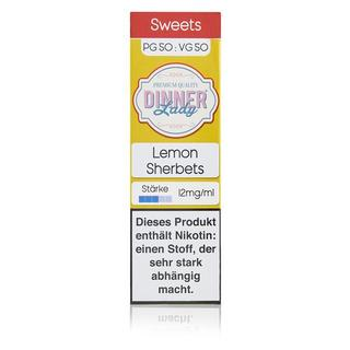 Dinner Lady 50/50 - Lemon Sherbets 10ml 12mg/ml