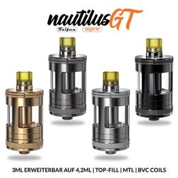 Aspire Nautilus GT Tank - 3ml 24mm MTL Verdampfer