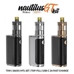 Aspire Nautilus GT Kit - GT Tank 3ml 75W MTL Set
