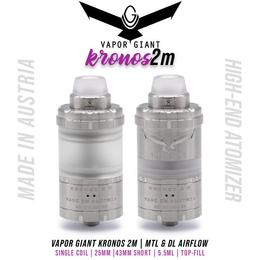 Vapor Giant Kronos 2 M (MTL/DL) RTA Tank - 5,5ml 25mm...