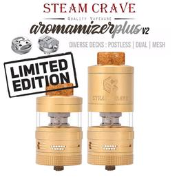 Steamcrave Aromamizer Plus V2 RDTA Limited Edition Gold
