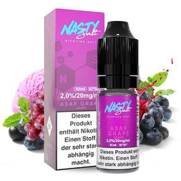 Nasty Juice Nikotinsalz - Asap Grape Salt 10ml 20mg/ml